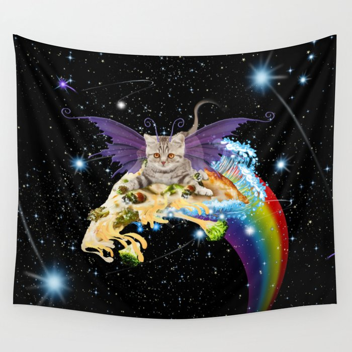 cat-fairy-riding-broccoli-pizza-in-space-tapestries